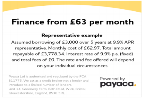Finance from £63